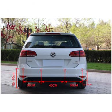 """Galo 4-ių pilkos spalvos jutiklių parkavimo sistema """"EAGLE"""" su garsiniu Bi-Bi signalu. Garantija 36 mėn. 8"""