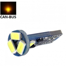 Geltona LED CAN BUS lemputė T10 / W5W - 5 LED