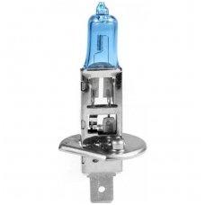 H1 1vnt. 5000K SUPER XENON WHITE 12v 55w trumpųjų, ilgųjų, rūko šviesų halogeninė lemputė
