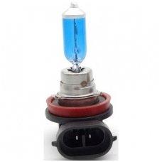 H11 1vnt. 5000K SUPER XENON WHITE 12v 55w trumpųjų, ilgųjų, rūko šviesų halogeninė lemputė
