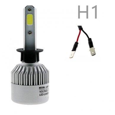 H1 COB LED sistema 12-24V, 25W, 2500LM į priekinius žibintus 2
