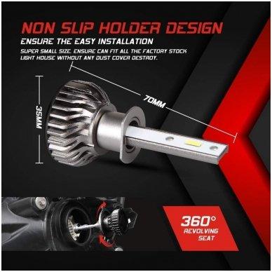 """H1 MINI CAN-BUS """"Philips ZES"""" +300% LED sistema 12V-24V 6500LM 4"""