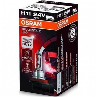 H11 OSRAM TRUCKSTAR PRO lemputė +100%  2.5X MORE LIFETIME 24V 70W 64216TSP