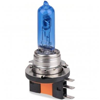 H15 1vnt. 5000K SUPER XENON WHITE 12v 15w/55w halogeninė lemputė 2