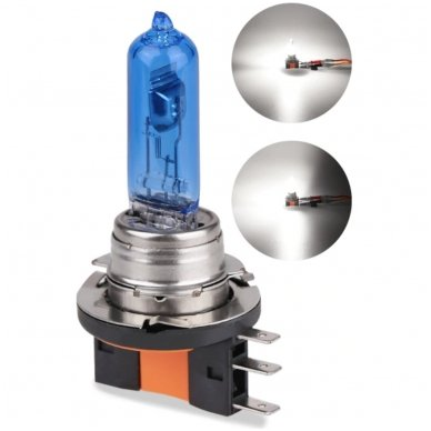 H15 1vnt. 5000K SUPER XENON WHITE 12v 15w/55w halogeninė lemputė 3