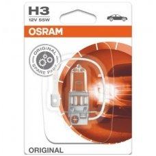H3 1vnt. OSRAM ORIGINAL LINE 12V 55W, 64151, 4050300001494 halogeninė lemputė