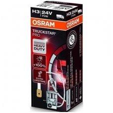H3 OSRAM TRUCKSTAR PRO lemputė +100%  2.5X MORE LIFETIME 24V 70W 64156TSP