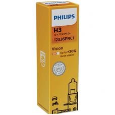 H3 Philips Vision +30% halogeninės 12v 55w, 12336PRB1 lemputė