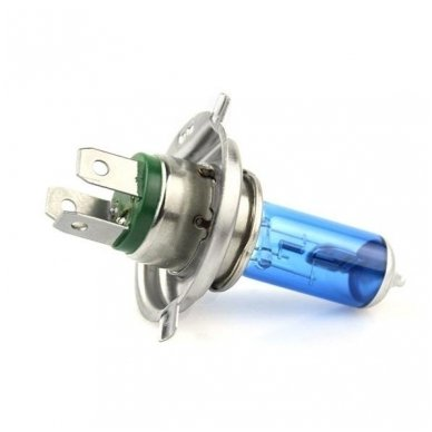 H4 1vnt. 5000K 12v 100w/90w SUPER XENON WHITE halogeninė lemputė 2