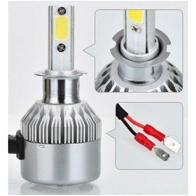 H3 CAN-BUS Bridgelux LED sistema 12-24V, 36W, 4000LM į priekinius žibintus 2