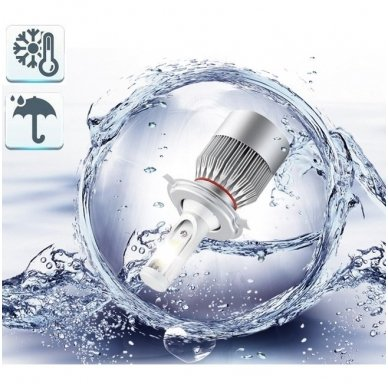 H3 CAN-BUS Bridgelux LED sistema 12-24V, 36W, 4000LM į priekinius žibintus 5
