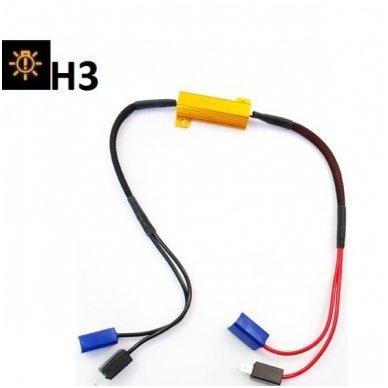 """H3 Led lemputės CAN-BUS """"Error free"""" klaidų anuliuotojas 1 vnt."""