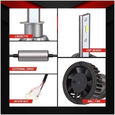"""H3 MINI CAN-BUS """"Philips ZES"""" +300% LED sistema 12V-24V 6500LM 7"""