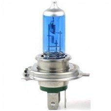H4 1vnt. 5000K SUPER XENON WHITE 12v 60 /55w trumpųjų, ilgųjų, rūko šviesų halogeninė lemputė