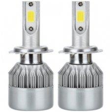 H4 CAN-BUS Bridgelux LED sistema 12-24V, 36W, 4000LM į priekinius žibintus