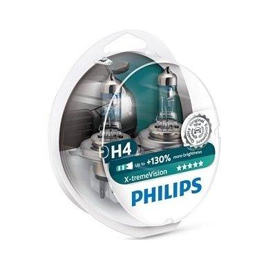 H4 Philips X-treme VISION, 60/55W 3700K, +130% šviesos, 12342XV+S2