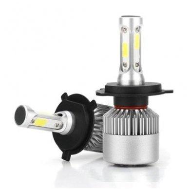H4 COB LED sistema 12-24V, 28W, 2800LM į priekinius žibintus 2