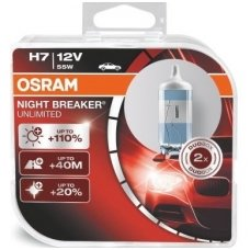 H7 OSRAM NIGHT BREAKER UNLIMITED, +110%, 64210NBU-HCB, 4052899017061
