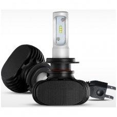 H7 SMD LED sistema 12-24V, 25W, 3000LM į priekinius žibintus