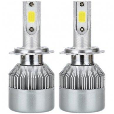 H7 CAN-BUS Bridgelux LED sistema 12-24V, 36W, 4000LM į priekinius žibintus