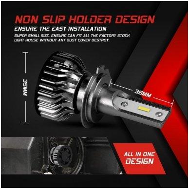 """H7 MINI CAN-BUS """"Philips ZES"""" +300% LED sistema 12V-24V 6500LM 4"""