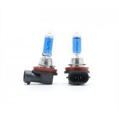 H8 lemputė 35w 12v 1vnt. 5000K SUPER XENON WHITE