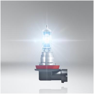 H8 OSRAM NIGHT BREAKER LASER +20% šviesos, +20m švietimo, +20% baltumo halogeninė lemputė 3