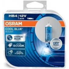 HB4/9006 OSRAM COOL BLUE BOOST, 80W5000K, +50% šviesos, 69006CBB-HCB, 4052899439900