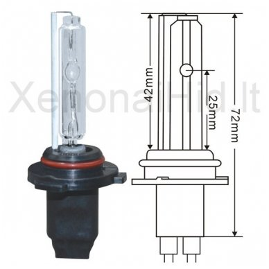 HB3 / 9005, 35W, 4300K xenon lemputė