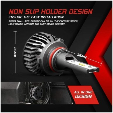"""HB3 / 9005 MINI CAN-BUS """"Philips ZES"""" +300% LED sistema 12V-24V 6500LM 4"""