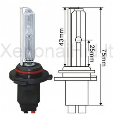 HB4 / 9006, 35W, 8000K xenon lemputė