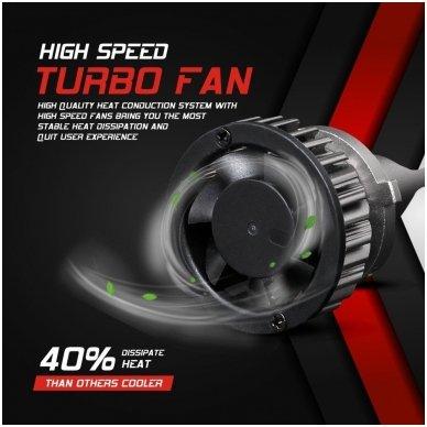 """HB4 / 9006 MINI CAN-BUS """"Philips ZES"""" +300% LED sistema 12V-24V 6500LM 5"""