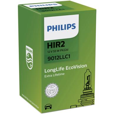 HIR2 9012 Philips Long Life Eco Vision 9012LLC1 automobilinė lemputė 12v 55w PX22d