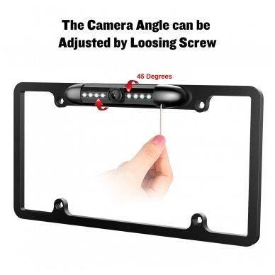 IR LED vaizdo kamera - automobilio valstybinio numerio rėmelis 31x16 7