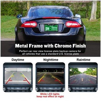IR LED vaizdo kamera - automobilio valstybinio numerio rėmelis 31x16 5