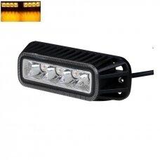 Įspėjamasis MINI galingas 4 LED švyturėlis - geltonas12W 12V-24V