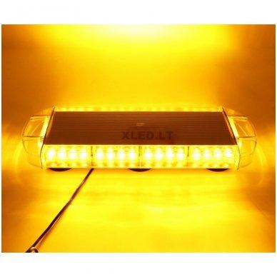 Įspėjamasis galingas LED oranžinis švyturėlis 12V-24V 54 cm 9