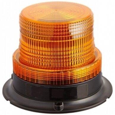 Sertifikuotas įspėjamasis 12 LED SMD oranžinis švyturėlis su magnetiniu padu 2