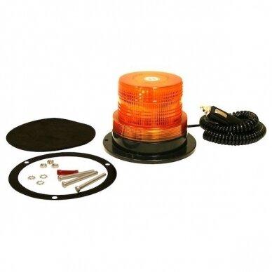 Sertifikuotas įspėjamasis 12 LED SMD oranžinis švyturėlis su magnetiniu padu 3