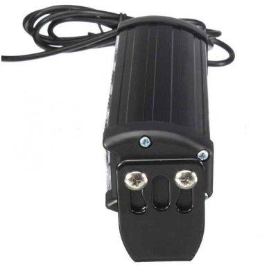 Įspėjamieji 2 LED žibintai lęšiniai švyturėliai geltoni 12-24V 2