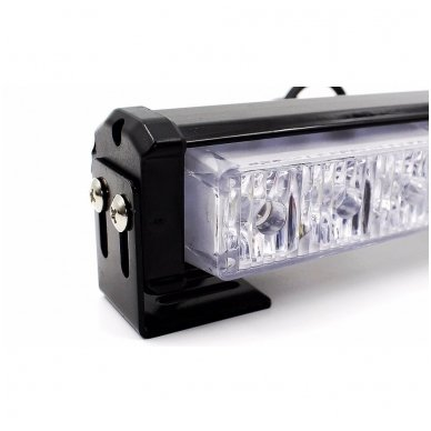 Įspėjamieji 2 LED žibintai lęšiniai švyturėliai mėlyni 5