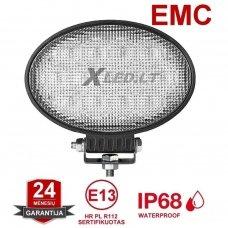 """""""JOHN DEERE"""" stiliaus ovalus 65W CREE LED plataus švietimo darbo žibintas EMC, 10-32V"""