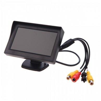 """Kameros ir LCD monitoriaus parkavimosi sistema 4-ių juodų jutiklių """"EAGLE"""", garsinis Bi-Bii signalas 2"""