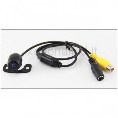 """Kameros ir LCD monitoriaus veidrodėlyje parkavimo sistema 4-ių juodos spalvos jutiklių """"EAGLE"""", garsinis Bi-Bii signalas 4"""