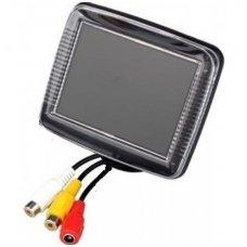 LCD 3.5 colių auto monitorius parkavimo sistemoms ir DVD 12V-24V