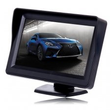 LCD 4.3 colių auto monitorius parkavimo sistemoms ir DVD 12V