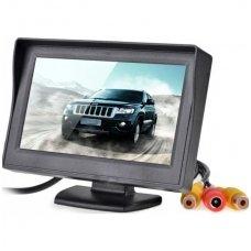 LCD 5.0 colių auto monitorius parkavimo sistemoms ir DVD 12V-24V