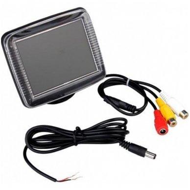 LCD 3.5 colių auto monitorius parkavimo sistemoms ir DVD 12V-24V 2
