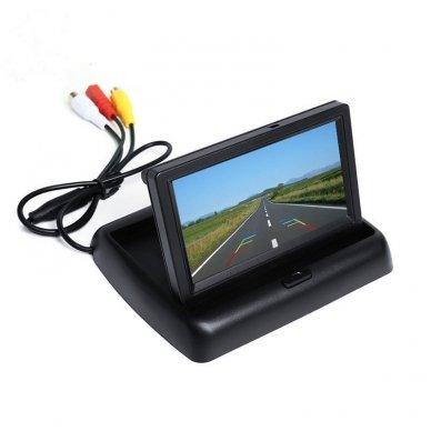 LCD 4.3 colių auto išvažiuojantis monitorius parkavimo sistemoms ir DVD 12V 4