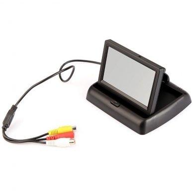 LCD 4.3 colių auto išvažiuojantis monitorius parkavimo sistemoms ir DVD 12V 6